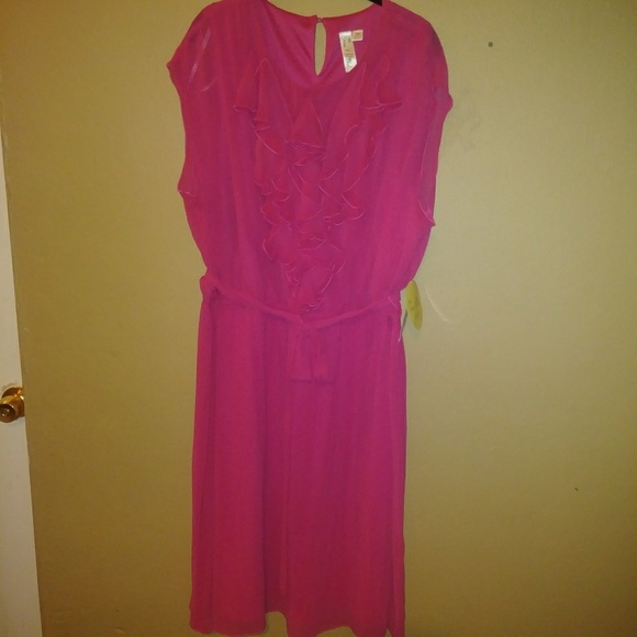 NWT Fuchsia Plus-Size Dress - 24W